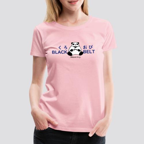 Black Belt Panda - Vrouwen Premium T-shirt