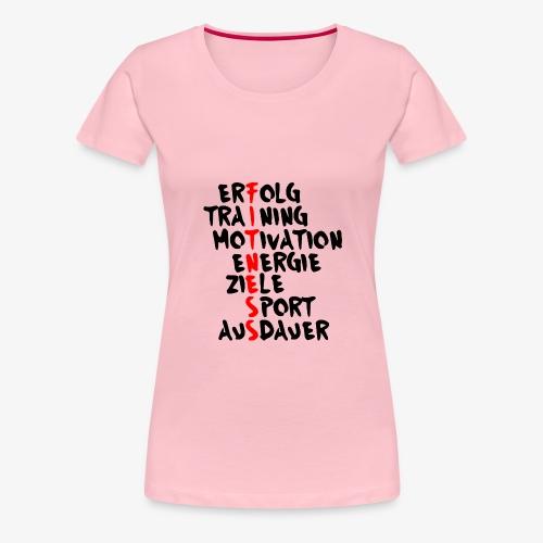 Fitness- Erfolg Training Motivation - Frauen Premium T-Shirt
