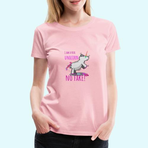 Einhorn Fake - Frauen Premium T-Shirt