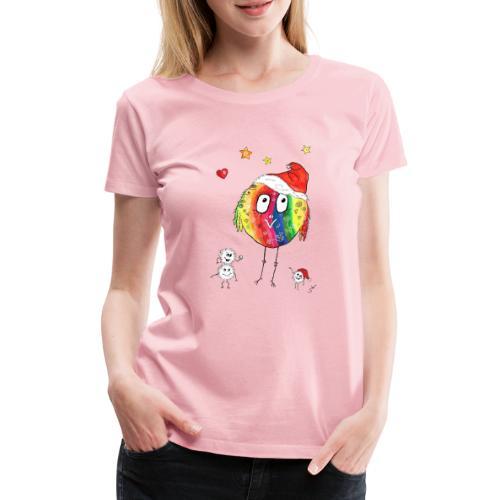 Happy Weihnachtskugelbird - Frauen Premium T-Shirt