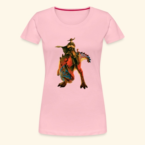 Dino Storm Cowboy - Women's Premium T-Shirt