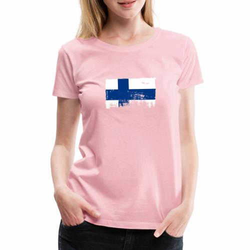 Suomen lippu, Finnish flag T-shirts 151 Products - Naisten premium t-paita