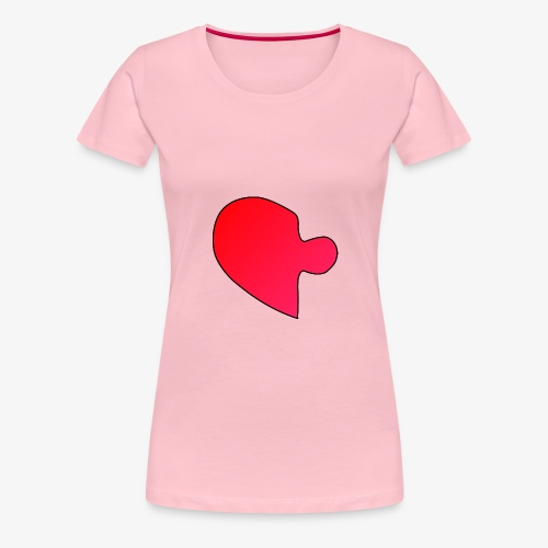 Herz Puzzle Partnerlook A - Frauen Premium T-Shirt