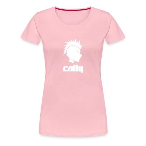 Cally Mohawk & Text Logo - Women's Premium T-Shirt