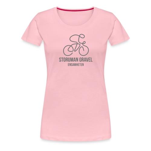 Storuman Gravel / grå - Premium-T-shirt dam