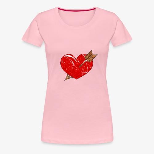 Herz Pfeil - Frauen Premium T-Shirt