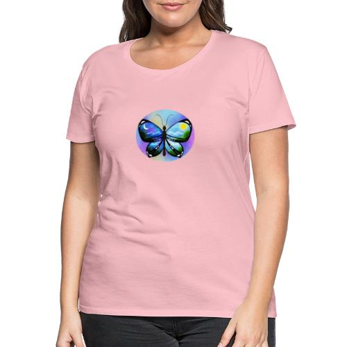 Blue Butterfly nature amazon - Camiseta premium mujer