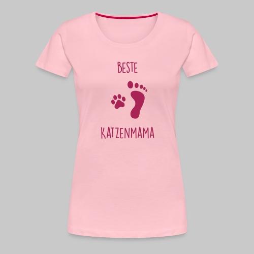 Beste Katzenmama - Frauen Premium T-Shirt