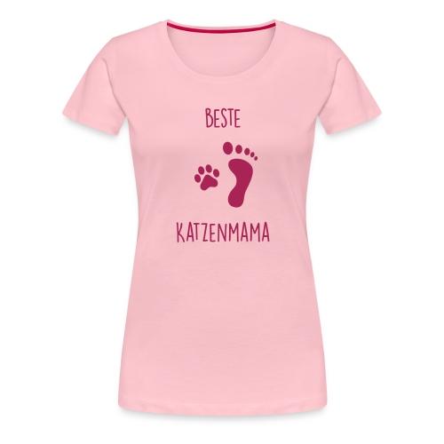 Vorschau: Beste Katzenmama - Frauen Premium T-Shirt