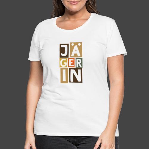 Die Jägerin in Blöcken - original Jägershirt - Frauen Premium T-Shirt