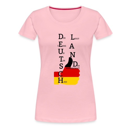 Deutsche Flagge mit Daumen 2 (Exklusives Design) - Frauen Premium T-Shirt