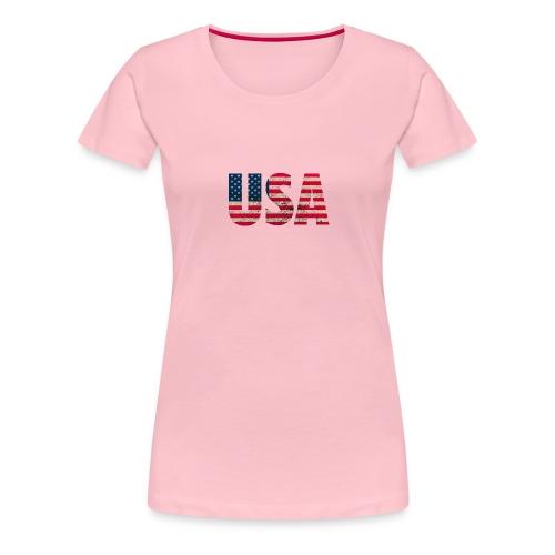 USA Amerika Stars and Stripes Used Look - Women's Premium T-Shirt