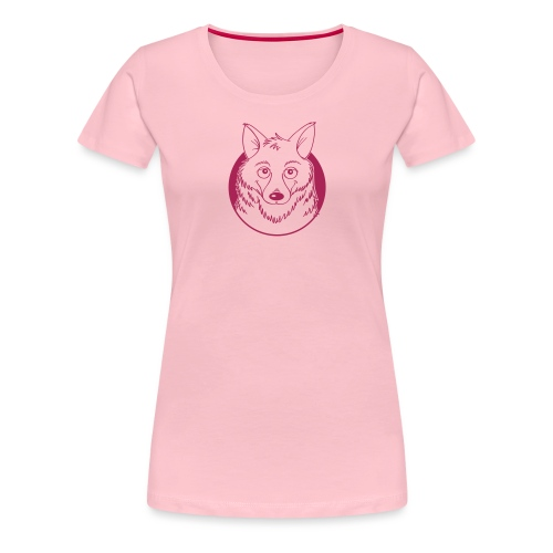 warmherziger Wolf - Frauen Premium T-Shirt