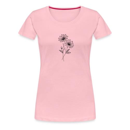 Daisy Blume Illustration - Frauen Premium T-Shirt