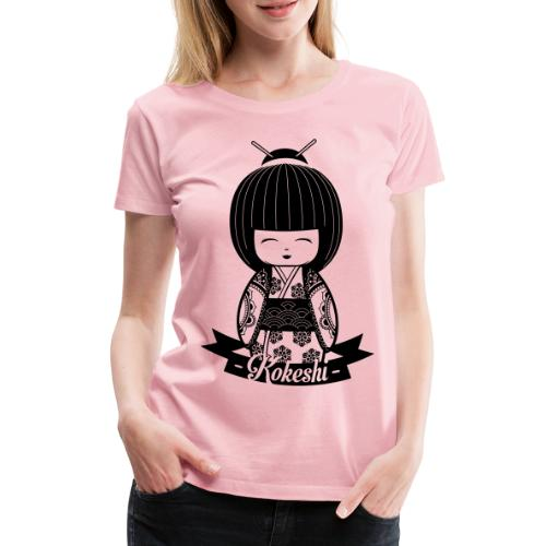 Kokeshi Black - Frauen Premium T-Shirt