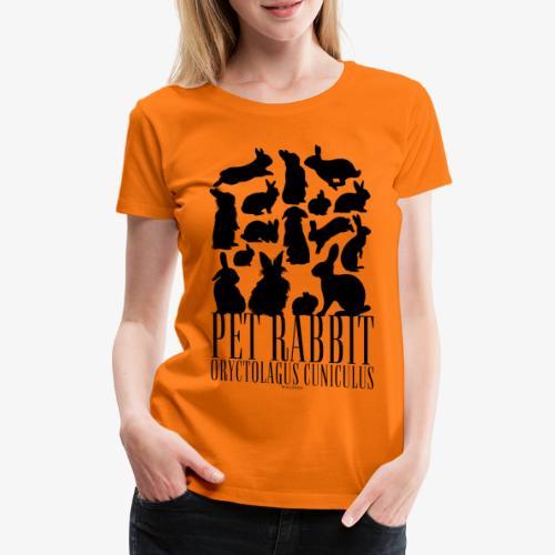 Pet Rabbit Black - Naisten premium t-paita