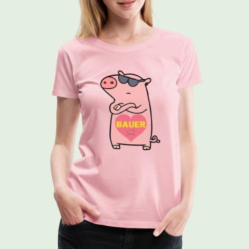 Ich liebe Bauer - Frauen Premium T-Shirt