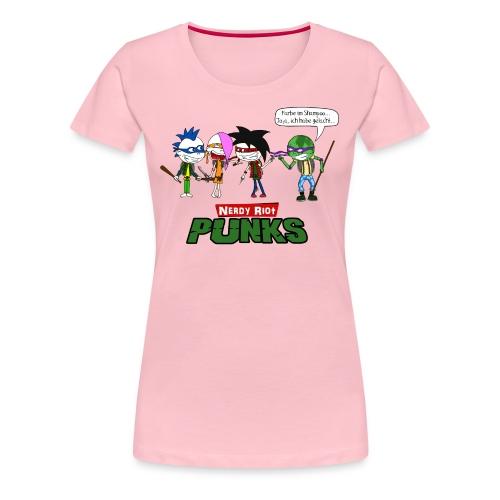 Nerdy Riot Punks - Frauen Premium T-Shirt