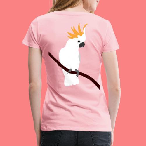 WHITE CACATUA - Maglietta Premium da donna