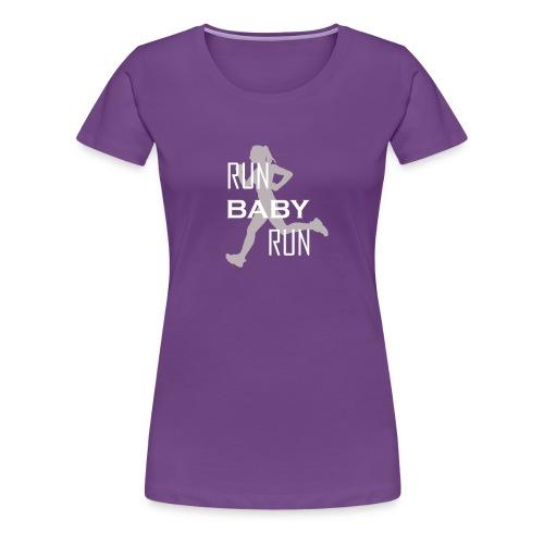 runbabyrun weiss grau - Frauen Premium T-Shirt
