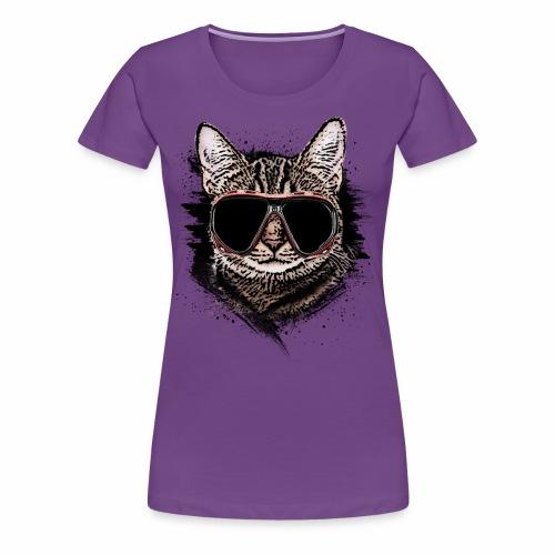 Krasse Taucher-Katze - Frauen Premium T-Shirt