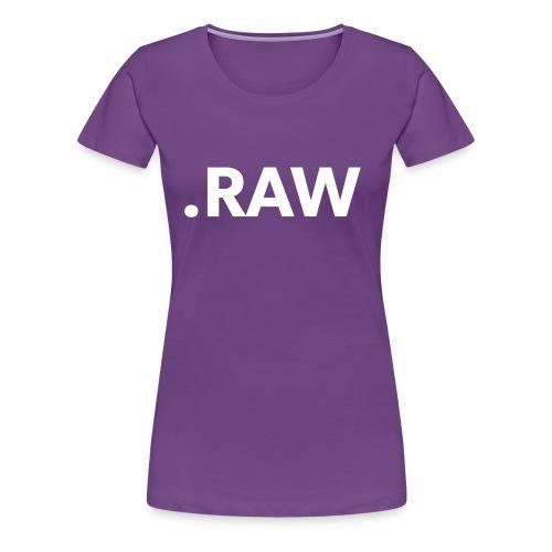 I shoot RAW - Maglietta Premium da donna