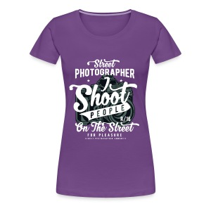 SHOOT PEOPLE - Cam Kamera Shirt Prensent - Frauen Premium T-Shirt