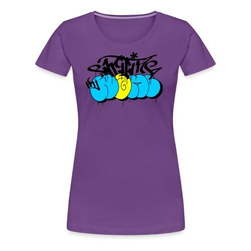 escribir mi nombre - el graffiti días de bombardeo - Camiseta premium mujer
