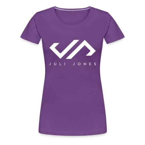 JuliJones white Logo - Frauen Premium T-Shirt