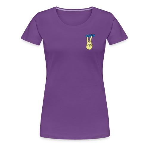 fumo finger skateboard - Frauen Premium T-Shirt