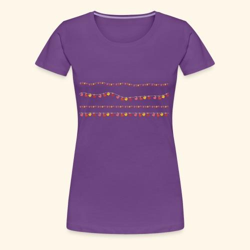 Herzchen-Lichterkette - Frauen Premium T-Shirt