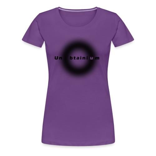 Unobtainium Cricle Logo Black - Frauen Premium T-Shirt