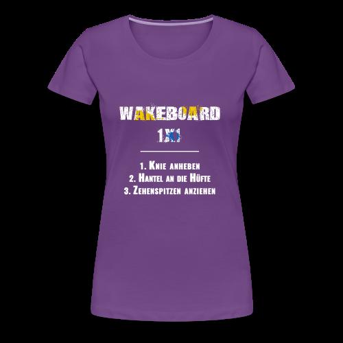 Wakeboard 1x1 - Frauen Premium T-Shirt