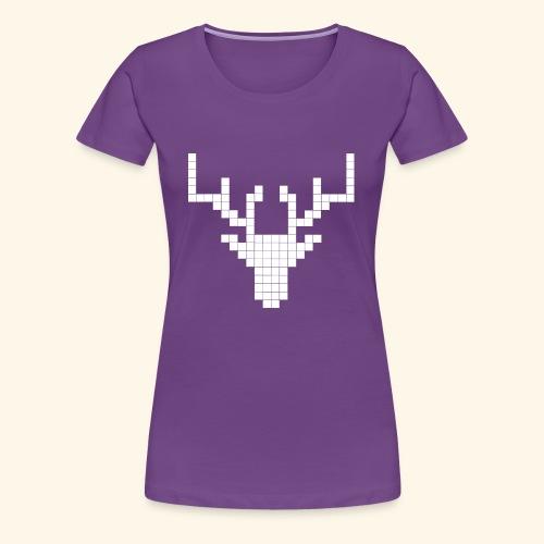 PIXELHIRSCH - only - Frauen Premium T-Shirt