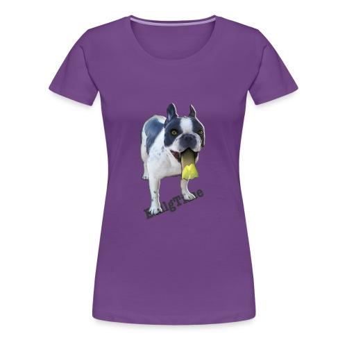 Bulldog francés. BullgTime. Dog yellow mellow - Camiseta premium mujer