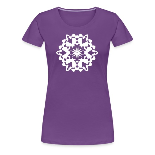 Mandala Schneeflocke - Frauen Premium T-Shirt