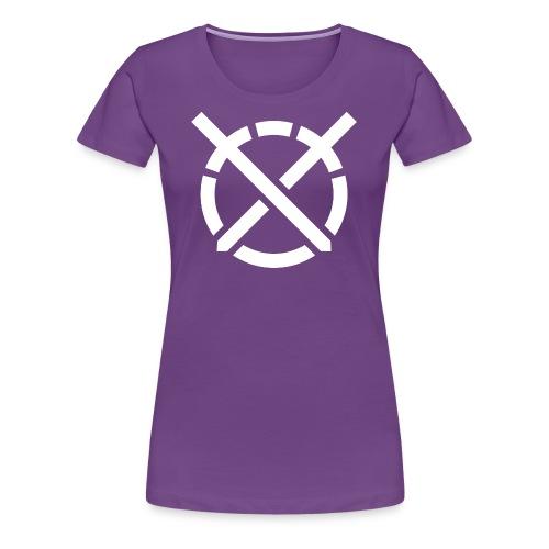 «Arte do Combate», simbolo em branco - Camiseta premium mujer