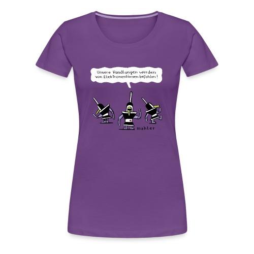 elektronenhirne - Frauen Premium T-Shirt