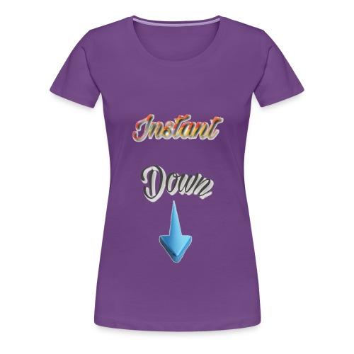 InstantDown LOGO - Frauen Premium T-Shirt