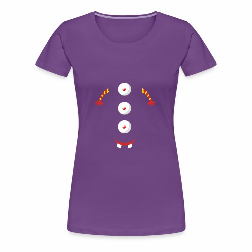 3 eyed button design - Women's Premium T-Shirt
