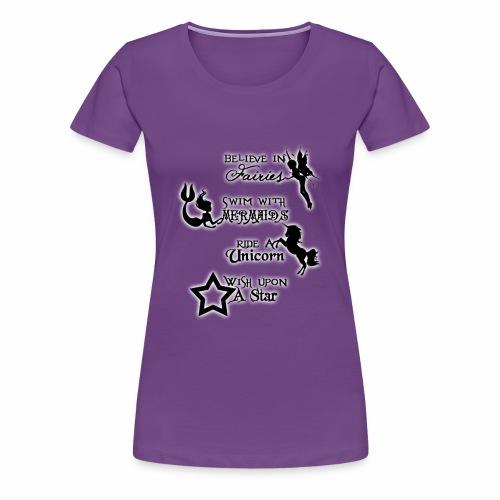 Fairies, Unicorns, Mermaids and Stars - Women's Premium T-Shirt