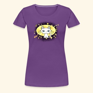 The Kitten and the Moon (white) - Frauen Premium T-Shirt