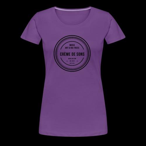 Creme De Sons Logo V3 - T-shirt Premium Femme