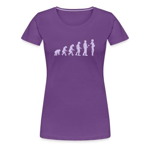 Evolutionstheorie Schwanger - Frauen Premium T-Shirt