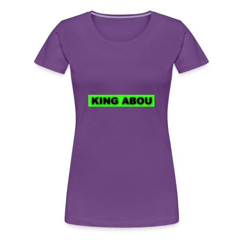 2560x1440 neon green solid color background - Vrouwen Premium T-shirt