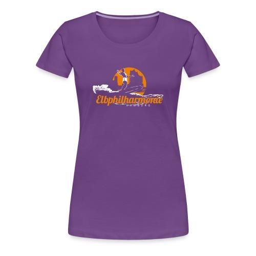 diggaladen motiv surfer elbphilharmonie 01 - Frauen Premium T-Shirt