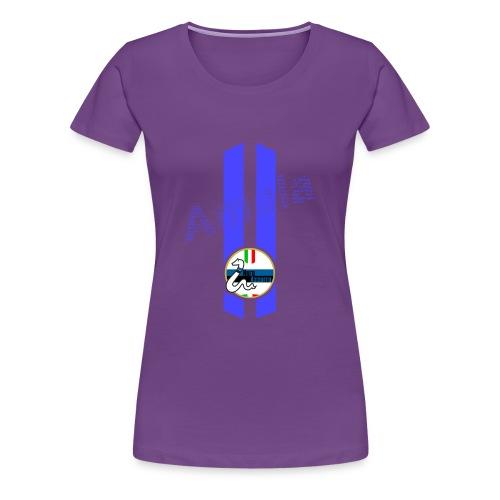 Linea Amala NeroAzzurro - Maglietta Premium da donna