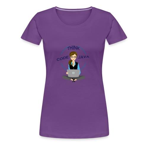 Think Code Java - Premium-T-shirt dam