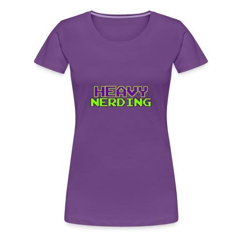 Logo heavy nerding - Maglietta Premium da donna