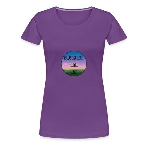 Squirrel And Uni Muismat - Vrouwen Premium T-shirt